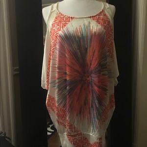 Splashed color quality blouse